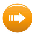arrow icon orange vector image