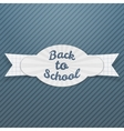 Back to School Sale paper Tag with Text vector image vector image