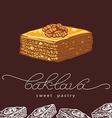 baklava sweet pastry 2 vector image vector image