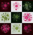 bauhaus art composition set of decorative modular vector image