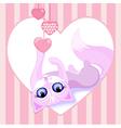 beautiful pink cat vector image vector image