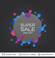 black badge super sale sticker vector image vector image