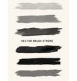 Black watercolor brush strokes vector image