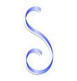 blue festive ribbon mockup realistic style vector image