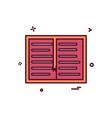 book study read icon design vector image vector image