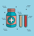 bottle medicine pharmacy test tube laboratory vector image vector image