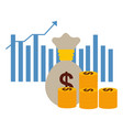 business money growth vector image vector image
