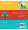 Business Training Banners vector image vector image