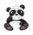 Cartoon Panda sitting isolated animal vector image