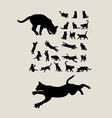 Cats Silhouettes Set vector image vector image