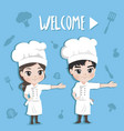 chef welcome vector image vector image