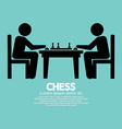 Chess Player Sign vector image vector image
