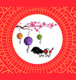 chinese new year pattern background with lantern vector image vector image