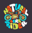 cool motorcycle print design vector image vector image