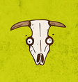Cow Skull Cartoon vector image
