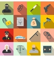 Crime flat icons vector image vector image