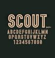decorative bold font design alphabet typeface vector image vector image