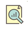 document and business graph monitoring icon vector image vector image