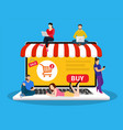 e-commerce cart concept vector image vector image