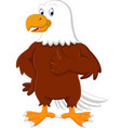 eagle cartoon giving thumb up vector image