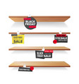 empty shelves black friday sale advertising vector image