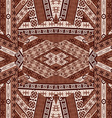 Ethnic patchwork design vector image vector image