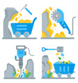 extraction minerals vector image