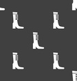 female fall and winter shoe boot icon sign vector image vector image
