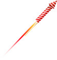 Flying fireworks rocket vector image