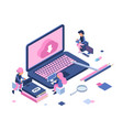 freelance concept remote employees freelancers vector image vector image