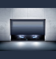 garage and car realistic background vector image vector image