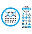 Genetic Code Flat Icon with Bonus vector image
