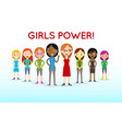 girl power and feminist movement - concept for vector image