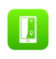 golf course navigator icon digital green vector image vector image