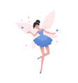gorgeous flying fairy or ballerina in elegant vector image vector image