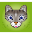 Green background with cat vector image vector image