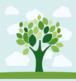 green tree plant design vector image vector image