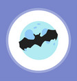 halloween bat flat vector image