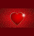heart frame on a red grunge texture vector image