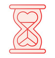 heart shaped hour glass flat icon infinity love vector image vector image