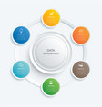 infographics circle button with 6 data template vector image vector image
