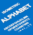 isometric paper white alphabet on blue vector image