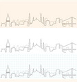 istanbul hand drawn skyline vector image vector image