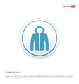 jacket with hood icon - white circle button vector image