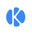 letter logo modern abstract blue icon of k vector image vector image