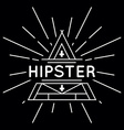 linear abstract hipster logo template - magical vector image