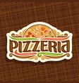 logo for italian pizzeria vector image vector image
