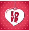 Love card Valentines day Font Pink vector image vector image