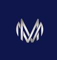m letters logo design vector image