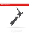 map new zealand isolated vector image vector image